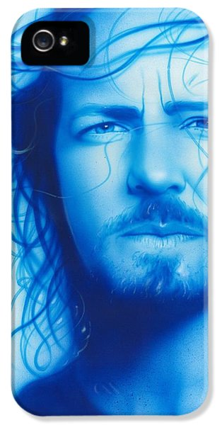 Musician Art iPhone 5 Cases - Vedder iPhone 5 Case by Christian Chapman Art