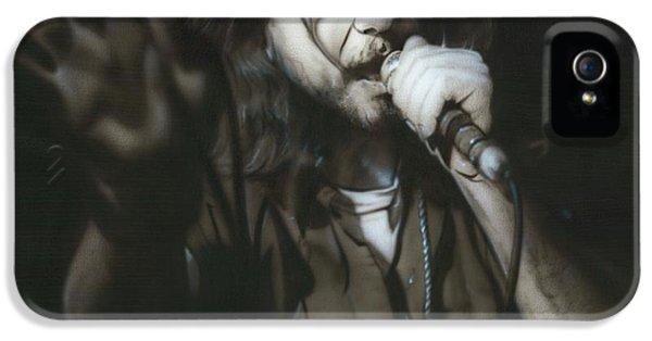 Musician Art iPhone 5 Cases - Vedder III iPhone 5 Case by Christian Chapman Art