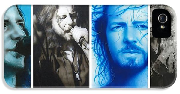 Famous People iPhone 5 Cases - Vedder Mosaic I iPhone 5 Case by Christian Chapman Art