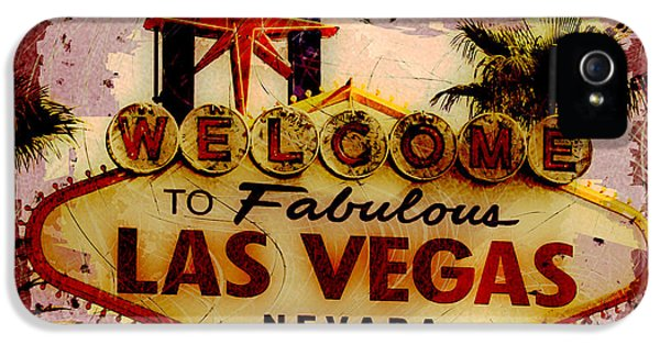 Destructed iPhone 5 Cases - Vegas Destructed iPhone 5 Case by Ryan Burton