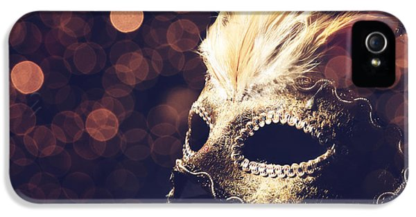 Mask iPhone 5 Cases - Venetian Mask iPhone 5 Case by Jelena Jovanovic