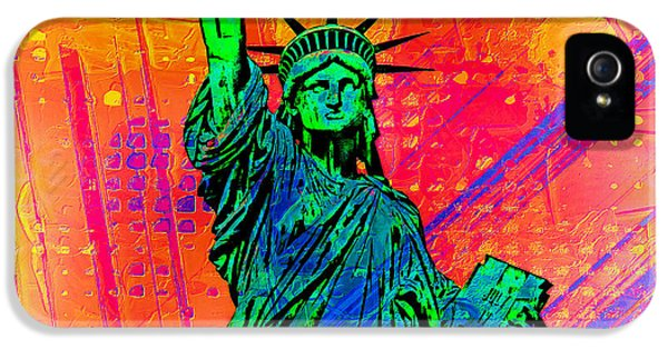 Fourth iPhone 5 Cases - Vibrant Liberty iPhone 5 Case by Az Jackson