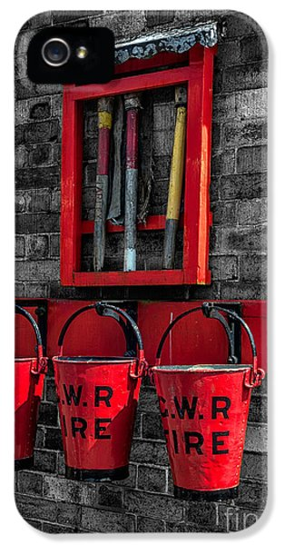 Hose iPhone 5 Cases - Victorian Fire Buckets iPhone 5 Case by Adrian Evans