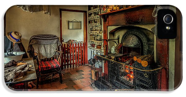 Wool iPhone 5 Cases - Victorian Fire Place iPhone 5 Case by Adrian Evans