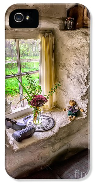 Curtain iPhone 5 Cases - Victorian Window iPhone 5 Case by Adrian Evans