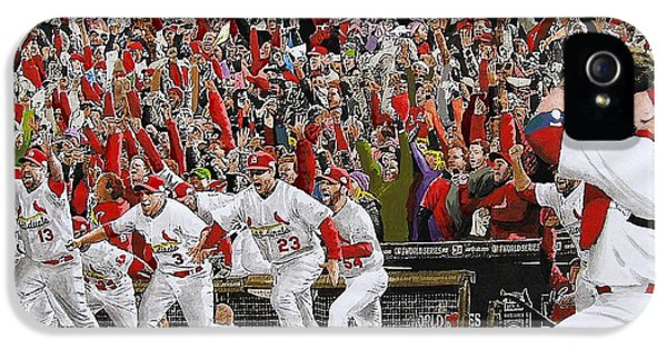 Victory - St Louis Cardinals Win The World Series Title - Friday Oct 28th 2011 IPhone 5 / 5s Case by Dan Haraga