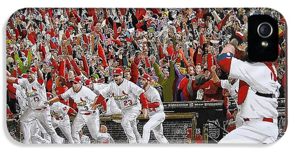 Us iPhone 5 Cases - VICTORY - St Louis Cardinals win the World Series Title - Friday Oct 28th 2011 iPhone 5 Case by Dan Haraga