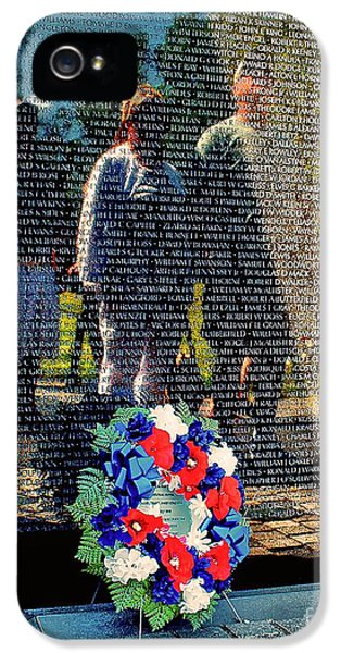 Vietnam Memorial Wall IPhone 5 / 5s Case by Nick Zelinsky