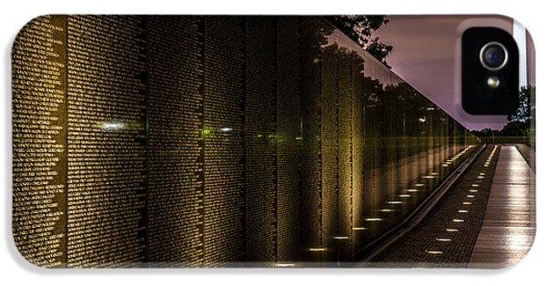 Vietnam War iPhone 5 Cases - Vietnam Veterans Memorial iPhone 5 Case by David Morefield