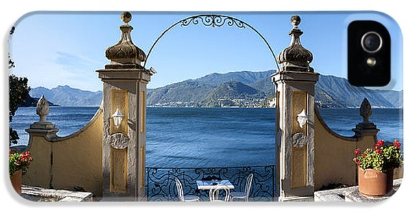 Build iPhone 5 Cases - View Of Lake Como From A Patio iPhone 5 Case by Panoramic Images