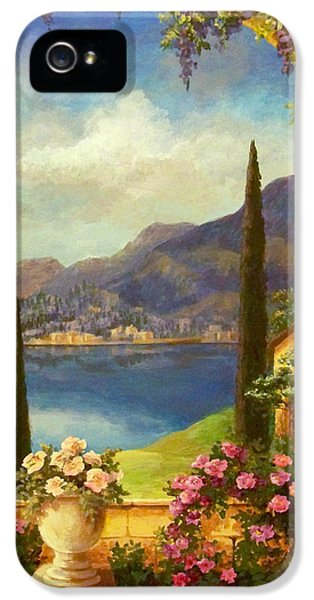 Summertime iPhone 5 Cases - Villa Rosa iPhone 5 Case by Evie Cook