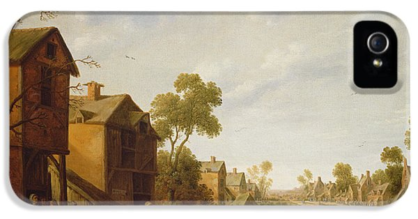 Festival iPhone 5 Cases - Village Scene With Peasants Merrymaking, 17th Century iPhone 5 Case by Joost Cornelisz
