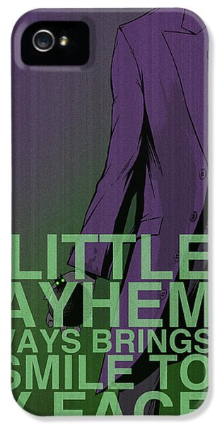 Prince iPhone 5 Cases - Villains Poster - Joker iPhone 5 Case by Christopher Ables
