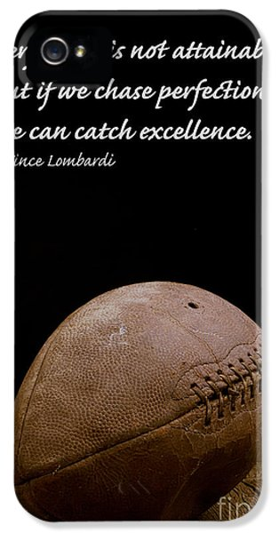 Vince Lombardi On Perfection IPhone 5 / 5s Case by Edward Fielding