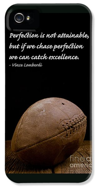 Drive iPhone 5 Cases - Vince Lombardi on Perfection iPhone 5 Case by Edward Fielding