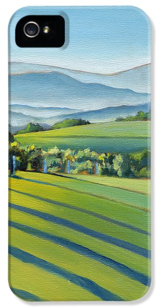 Vineyard Blue Ridge On Buck Mountain Road Virginia IPhone 5 / 5s Case by Catherine Twomey