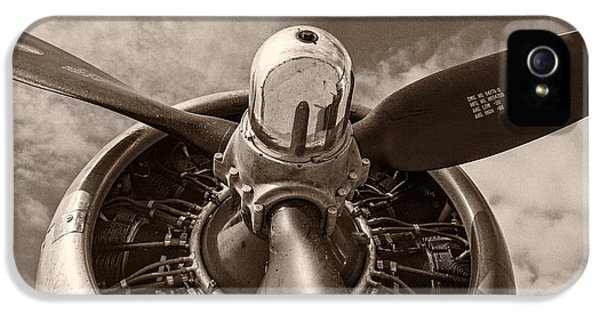 Engine iPhone 5 Cases - Vintage B-17 iPhone 5 Case by Adam Romanowicz