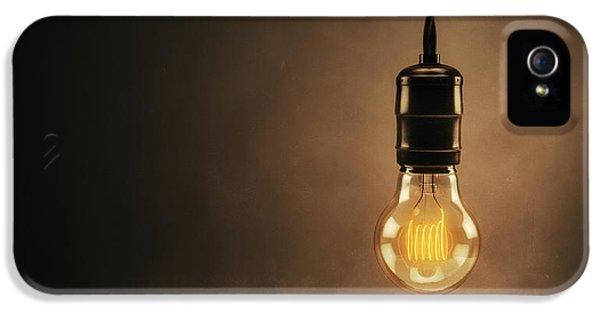 Filament (lightbulb) iPhone 5 Cases - Vintage Bright Idea iPhone 5 Case by Scott Norris