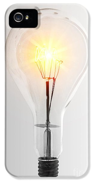 Electrical Component iPhone 5 Cases - Vintage Bulb iPhone 5 Case by Carlos Caetano