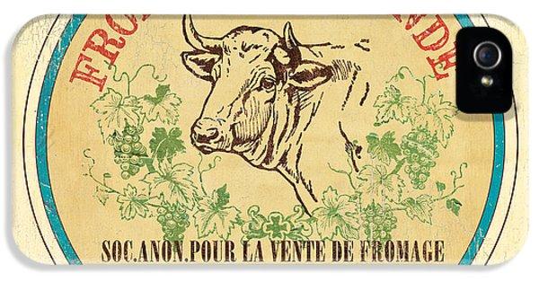 Livestock iPhone 5 Cases - Vintage Cheese Label 1 iPhone 5 Case by Debbie DeWitt
