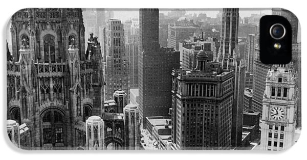 Vintage Chicago Skyline IPhone 5 / 5s Case by Horsch Gallery