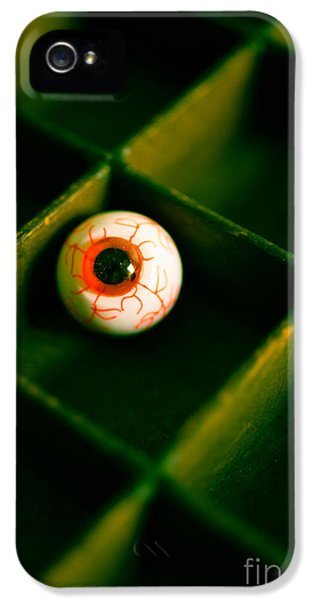 Eyeball iPhone 5 Cases - Vintage fake eyeball iPhone 5 Case by Edward Fielding