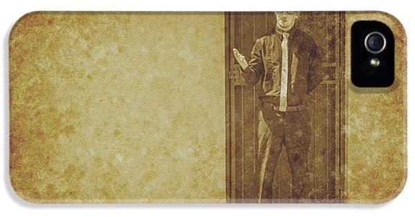 Grunge Style iPhone 5 Cases - Vintage gentleman selling door to door iPhone 5 Case by Ryan Jorgensen