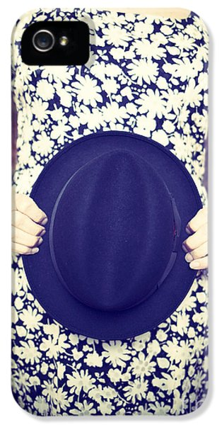 Hat iPhone 5 Cases - Vintage hat flower dress woman iPhone 5 Case by Edward Fielding
