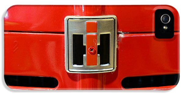 Badge iPhone 5 Cases - Vintage International Harvester Tractor Badge iPhone 5 Case by Paul Ward
