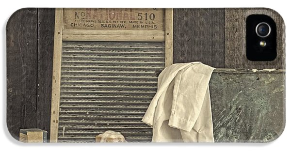 Washed iPhone 5 Cases - Vintage Laundry Room II by Edward M Fielding iPhone 5 Case by Edward Fielding
