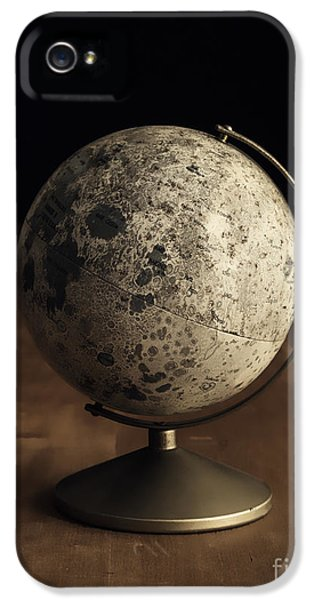 Moon iPhone 5 Cases - Vintage Moon Globe iPhone 5 Case by Edward Fielding