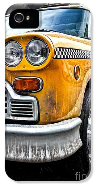 Taxi iPhone 5 Cases - Vintage NYC Taxi iPhone 5 Case by John Farnan