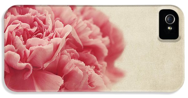 Carnations iPhone 5 Cases - Vintage Pink Carnations iPhone 5 Case by Kim Hojnacki