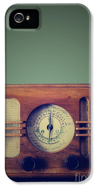Grunge Style iPhone 5 Cases - Vintage Radio iPhone 5 Case by Jelena Jovanovic