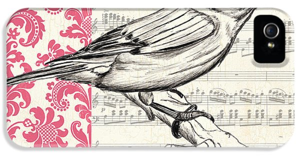 Composer iPhone 5 Cases - Vintage Songbird 1 iPhone 5 Case by Debbie DeWitt