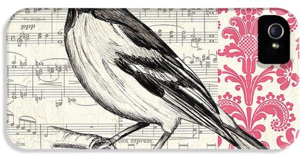 Composer iPhone 5 Cases - Vintage Songbird 2 iPhone 5 Case by Debbie DeWitt