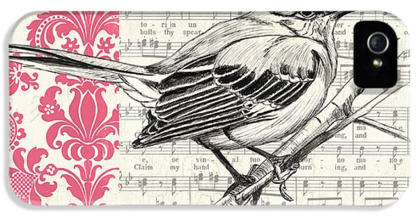 Composer iPhone 5 Cases - Vintage Songbird 4 iPhone 5 Case by Debbie DeWitt