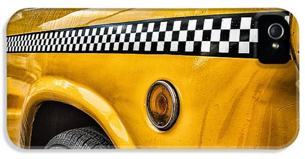 Taxi iPhone 5 Cases - Vintage Yellow Cab iPhone 5 Case by John Farnan