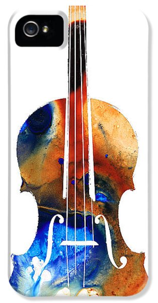Classical iPhone 5 Cases - Violin Art by Sharon Cummings iPhone 5 Case by Sharon Cummings