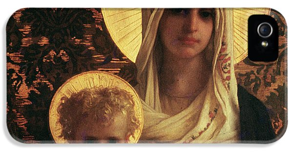 Family iPhone 5 Cases - Virgin and Child iPhone 5 Case by Antoine Auguste Ernest Herbert