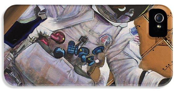 Apollo Print iPhone 5 Cases - Vitruvian Man- Alan Bean.  iPhone 5 Case by Simon Kregar