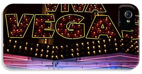 Bob Christopher iPhone 5 Cases - Viva Vegas Neon iPhone 5 Case by Bob Christopher