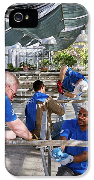 Volunteers At A Botanic Garden IPhone 5 / 5s Case by Jim West