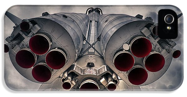 Rockets iPhone 5 Cases - Vostok rocket engine iPhone 5 Case by Stylianos Kleanthous