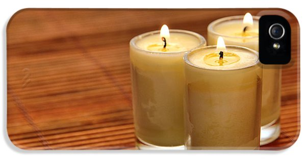 Trio iPhone 5 Cases - Votive Candle Burning iPhone 5 Case by Olivier Le Queinec