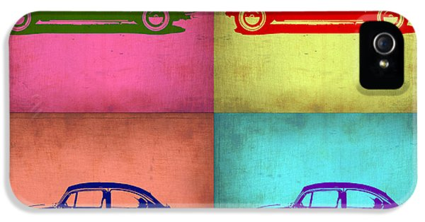 German Classic Cars iPhone 5 Cases - VW Beetle Pop Art 1 iPhone 5 Case by Naxart Studio