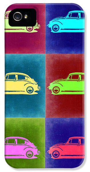 German Classic Cars iPhone 5 Cases - VW Beetle Pop Art 2 iPhone 5 Case by Naxart Studio