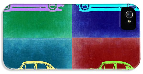 German Classic Cars iPhone 5 Cases - VW Beetle Pop Art 3 iPhone 5 Case by Naxart Studio