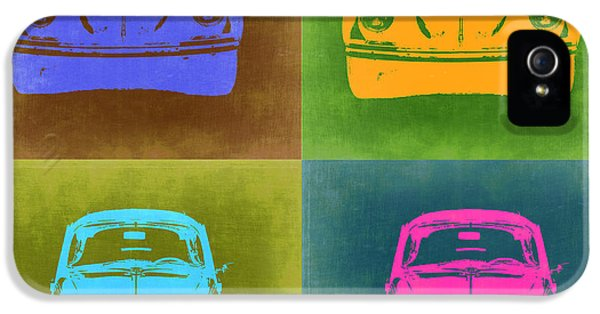 German Classic Cars iPhone 5 Cases - VW Beetle Pop Art 6 iPhone 5 Case by Naxart Studio