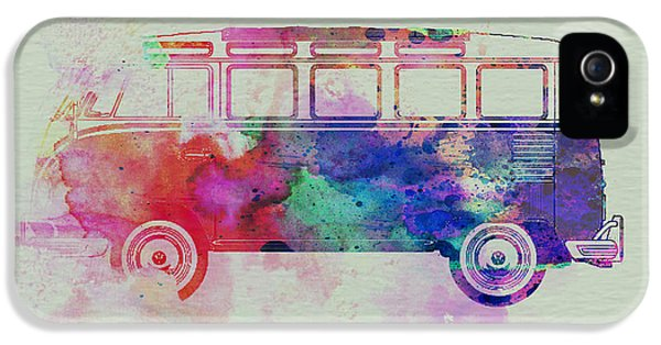 Competition iPhone 5 Cases - VW Bus Watercolor iPhone 5 Case by Naxart Studio
